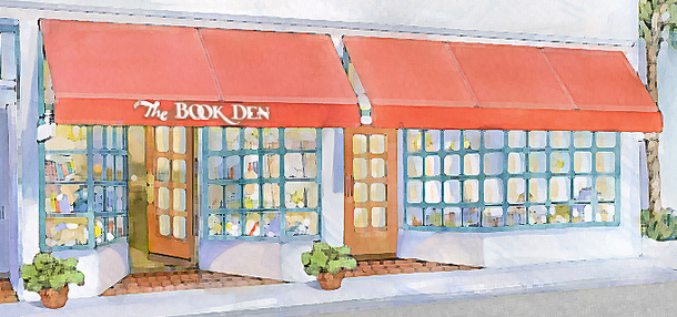 The Book Den painting